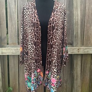 Fashion Express leopard kimono